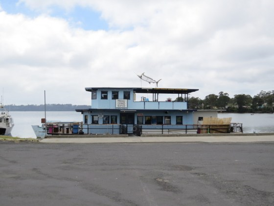 This fishing boat has been converted into a restaurant